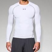 Northwestern Men's Basketball Player 02 UA Heatgear Long Sleeve Compression Tee