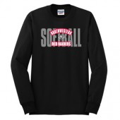 Northwestern Softball 2016 Player Gear 02 Jerzees Long Sleeve Tee