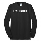 Live United 02 50/50 Cotton Poly Blend Long Sleeve T Shirt