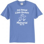 Caleb Hockett Memorial 02 Adult 50/50 Cotton Poly Blend Short Sleeve T Shirt