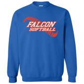 West Sioux Softball Fans 03 Gildan Crew Sweatshirt