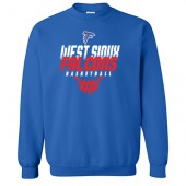 West Sioux Basketball 2017 03 Gildan Heavy Blend Crew Sweatshirt