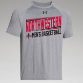 Northwestern Mens Basketball Fangear 03 UA Short Sleeve Locker Tee