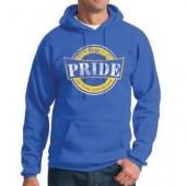 SDSU The PRIDE 2016 03 50/50 Cotton Poly Blend Hooded Sweatshirt
