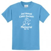 Caleb Hockett Memorial 03 Youth 50/50 Cotton Poly Blend Short Sleeve T Shirt