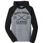 Dakota Premier Hockey Peewee A & B 2016 04 Adult District Lightweight Raglan Hooded Sweatshirt