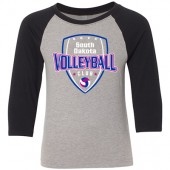 South Dakota Club Volleyball 2017 04 Youth Next Level 60/40 Ringspun Cotton/ Poly Blend ¾ Sleeve
