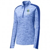 SDSU Flying Jacks Aviation Program Fall 2017 04 Sport-Tek® Ladies PosiCharge® Electric Heather Colorblock 1/4-Zip Pullover