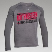 Northwestern Mens Basketball Fangear 04 UA Novelty Long Sleeve Locker Tee