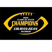 "Colman-Egan Football State Champs 2016 05 6"" Car Decal"