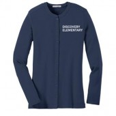 Discovery Elementary 06 Ladies Stretch Button Front Cardigan
