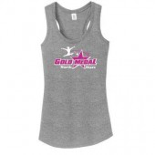 Gold Medal Gymnastics Booster Club 07 Ladies District Made Racer Back Tank