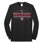 Brookings Swim Club Fall 2016 07 Youth and Adult 50/50 Cotton Poly Blend Long sleeve