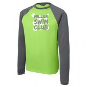 Miller Swim Club 07 Adult and Youth Sport Wick Raglan Colorblock Fleece Crewneck