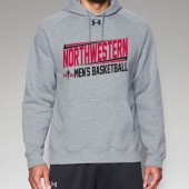 Northwestern Mens Basketball Fangear 08 UA Fleece Hoody