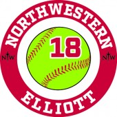 Northwestern Softball 2018 Fan Gear 04 Window Decal