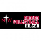 NWC Volleyball 2017 Fan Gear 11 Raider Custom Cut Window Cling
