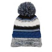 Pom Pom Beanie Hats 09 Royal